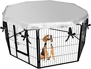 EXPAWLORER Dog Crate Cover for Outdoor and Indoor- Double Side Waterproof Windproof Shade Kennel Cover, Fits 24 Inches Crate with 8 Panel