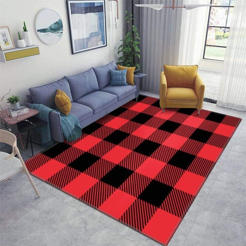 Home Area Runner Rug Pad 限定モデル Red Black and スーパーセール Abs Tartan Plaid Seamless