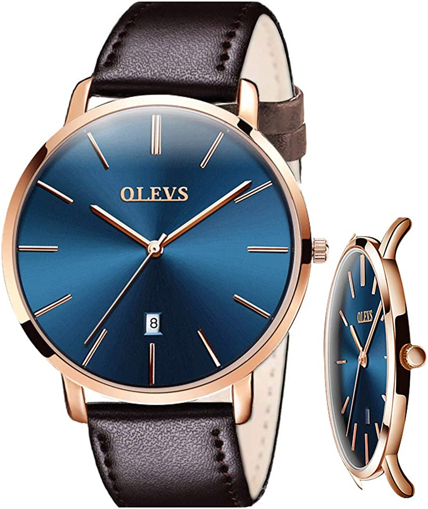 OLEVS Watches for Men Waterproof Minimalist Analog Quartz Wrist Watch Perfect Gifts for Mens