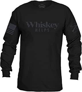 Grunt Style Whiskey Helps L/S Men's T-Shirt
