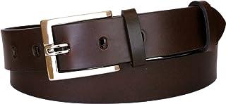 ESPERANTO Cintura in puro Cuoio di Toro con Fibbia a Blocco - Altezza 3,5 cm