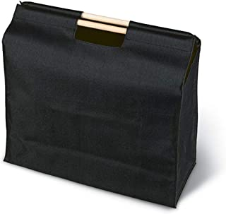 Shopping bag in 600D polyester with wooden handles