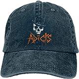 Photo de Allforenjoy Casquette Rétro Unisexe Mode Le Casquette de Baseball Adicts Skull Denim Hat réglable
