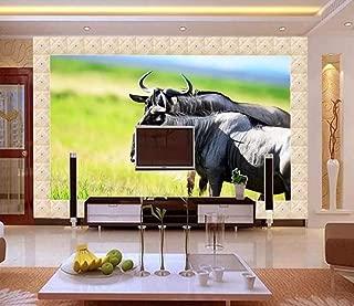 Wallpaper 3D Mural Grassland Yak Wall Murals for Living Room and Bedroom Wall Decor