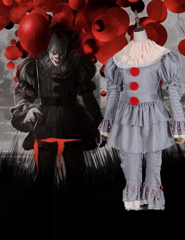 TUTOU Creepy Saugiocattolo Htuttioween Cosplay Costume Mask Adulto Festa Spaventoso Clown Devil Zombie Horror Puntelli per Decorazione,M