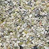 "Midwest Hearth Natural Decorative Jade Bean Pebbles 1/5"" Size (2-lb Bag)"