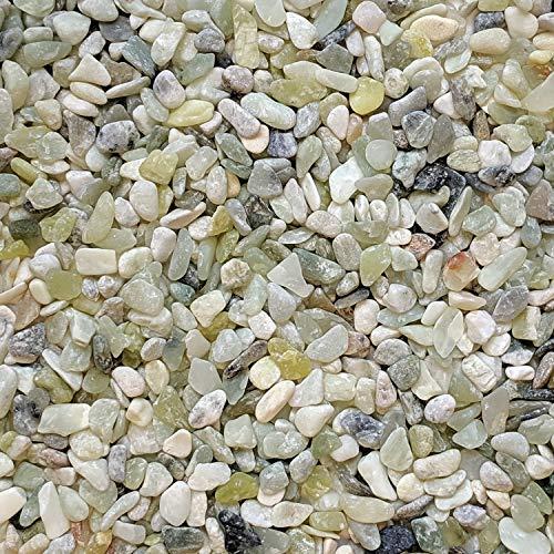 Midwest Hearth Natural Decorative Jade Bean Pebbles 1/5' Size (2-lb Bag)