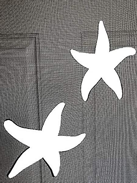 DCentral Starfish Screen Magnets Double Sided Decor For Non Retractable Screens Multipurpose Helps To Stop Walking Into Screens Covers Small Tears In Screens Size 5 X 4 5 Ea