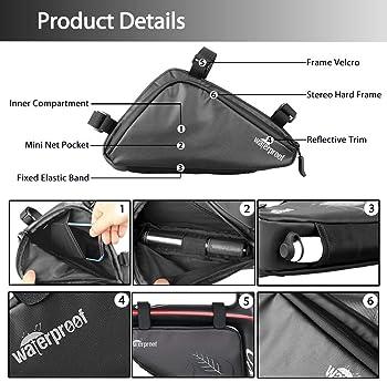Weatherproof /& Water Colux Sport Triangle Bike Bag /& Handlebar Phone Holder