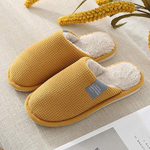 zapatillas casa hombre bota,5 zapatillas de algodón para el hogar de las mujeres otoño e invierno calidez del hogar parejas felpa casa zapatos de confinamiento antideslizantes-Marrón (macho)_40-41