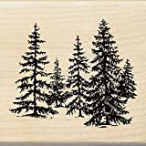 Inkadinkado Pine Tree Wood Stamp for Arts and Crafts, 2.25'' W x 2.5'' L
