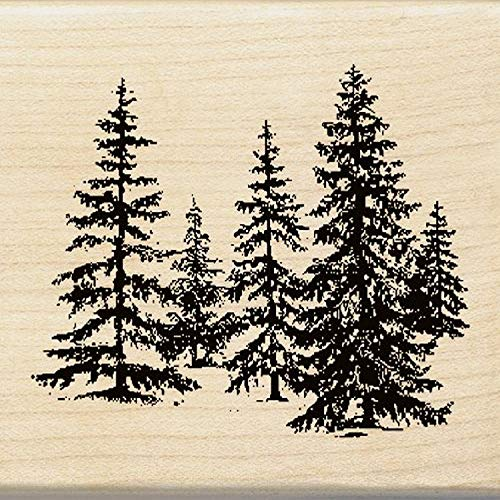 Top christmas tree rubber stamp for 2020