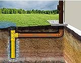 Regenwasser Dränagerohr Sickerschacht Ø 110 DN 100 mit T-Stück Regen- Tonne Ablauf Rohr Dränage Garten Drän Abfluß Überlauf Gitter Versickerungsschacht