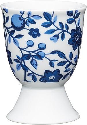 Preisvergleich für Kitchen Craft KCEGGTRAD Eierbecher Blumen, Porzellan, 12 x 17 x 22 cm, Blau