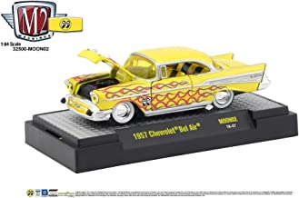 M2 Machines MOONEYES 1957 Chevrolet Bel Air - Yellow with Flames