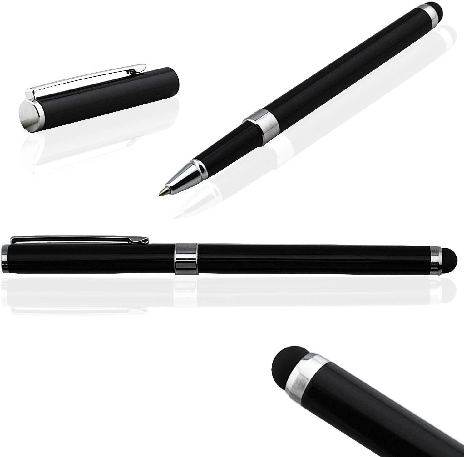 Writing Pen with Ink for Samsung Galaxy A71! 3 Pack - Silver Red Black Tek Styz PRO Custom Stylus