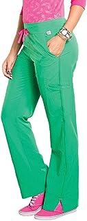 Smitten Women's Hottie Slim-Fit Cargo Scrub Pants, Kelly, XXX-Large
