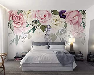 Wall Mural 3D Wallpaper Rose Flower Leaves Retro Minimalist Modern Wall Paper for Living Room Bedroom Tv Wall Decor