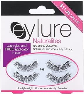 Eylure Lengthening False Eyelashes Multipack, Style No. 035, Reusable, Adhesive Included, 2 Pair