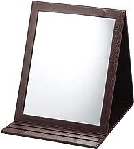 折立鏡デカミラー 角度調整5段階 卓上 A4サイズ ヘアメイク ヘアアレンジ 化粧 折りたたみ 大きい デコルテまで見える