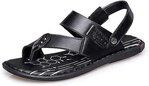Sandales à à à la Mode Simple Léger Boucle D'été Clip Pantoufles Pantoufles Chaussures D'été pour Hommes (Couleur  Noir, Taille  8.5 UK) 67b