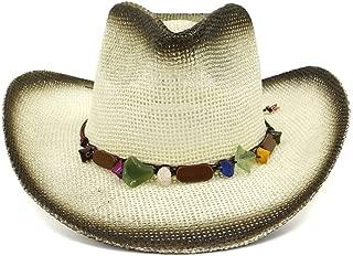 LiWen Zheng Retro Women Men's Wide Brim Straw Summer Sun Beach Cowboy Western Hat With Tassel Western Sombrero Hombre Lifeguard Hats