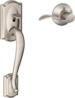 Camelot Front Entry Handle Accent Right-Handed Interior Lever (Satin Nickel) FE285 CAM 619 ACC RH