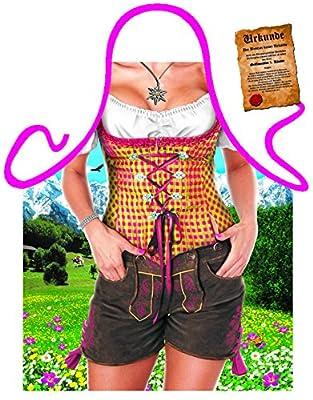 Themen/Motiv-Schürze/Grill/Kochschürze Rubrik Bayern/sexy Motive: Almgirl - Geschenkidee inkl. Spaß-Urkunde