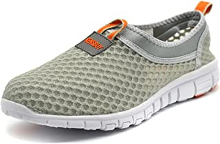 KENSBUY Men's Lightweight Slip on Mesh Shoes Quick Drying Aqua Water Shoes Athletic Sport Walking Sneaker