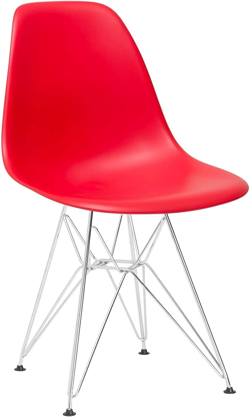 HWZQHJY Plastic Chair Very popular with Chrome Max 74% OFF Room Kitchen for Living Base