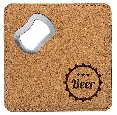 die stadtmeister Bier-Untersetzer Kork Beer - Kronkorken/mit Kapselheber/Flaschenöffner