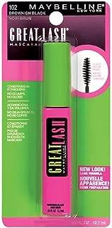 Maybelline Great Lash Washable Mascara, Brownish Black [102], 0.43 oz (Pack of 2)