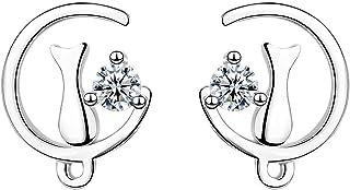 YooAi Orecchini a Bottone con zirconi cubici Orecchini a Forma di Luna di Gatto Orecchini con ciondoli per Orecchini per L...