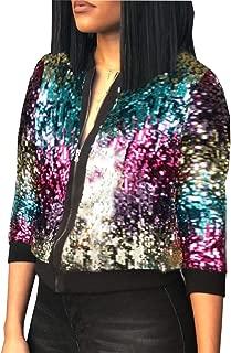 Women Party Clubwear Sexy Off The Shoulder Sequin Jacket Coat Outwear