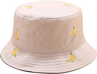 CAR-TOBBY Black Yellow Double sided Bucket Hat Men Women Fisherman Sun Hat Spring Summer