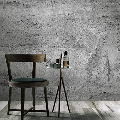 3D Wallpapers Vinyl Stickers Self Adhesive for Walls murals Living Room Bedroom Garden -138 * 96'- Retro Grey Cement Brick