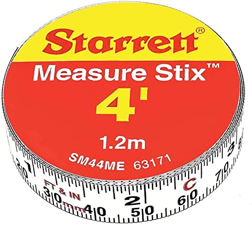 13mm (1/2 inch) x 1.2m (4 inch) Measure Stix, White, 12 x 0.5 x 0.06 inches