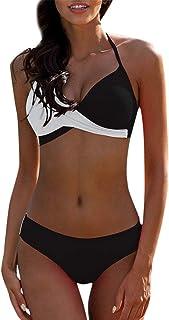 b698ae23c2659 Riou Sexy Bikini Damen Set Push Up High Waist Zweiteilige Bikinis Oberteil  Frau Sommer Sportlich Kleine