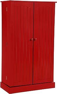 Amazon Com Red Storage Cabinets Accent Furniture Home Kitchen