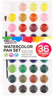 36 Watercolor Paint Set Art Watercolor Pan Watercolor Brushes and Drawing Pigment Water Color With Water Brush Painting Se...
