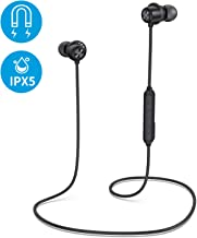 Arbily Bluetooth Earphones Bluetooth 5 0 Sports Run Earbuds 8H Playtime Lightweight Magnetic IPX5 Sweatproof Wireless Headphones With Built In Mic For Gym Cycling Sports Travel