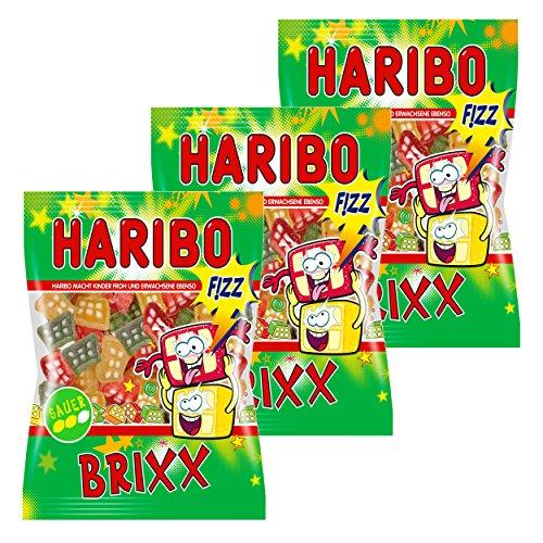 Haribo Prickel Brixx, 3er Pack, Gummibärchen, Weingummi, Fruchtgummi, Im Beutel, Tüte, 200 g