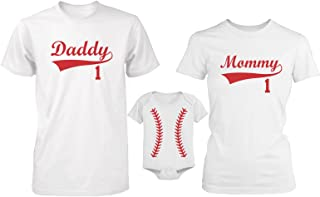 365 In Love Daddy or Mommy or Baby Family Matching Baseball T-Shirt and Onesie
