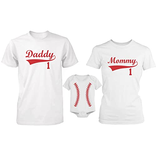 32d67f8de 365 In Love Daddy or Mommy or Baby Family Matching Baseball T-shirt and  Onesie