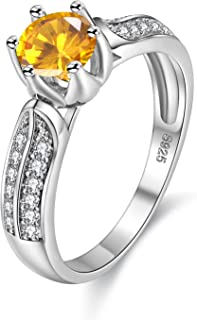 Uloveido Women Fashion Anniversary Promise Rings White Gold Plated Wedding Engagement Cubic Zirconia Rings for Girls Y027