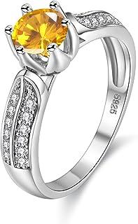 Uloveido المرأة الأزياء الذكرى السنوية خواتم الوعد الأبيض الذهب مطلي الزفاف الخطوبة مكعب زركونيا خواتم للبنات Y027