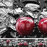 Rodnik Küchenrückwand-Spritzschutz-Wanddeko-Balkonsichtschutz  Hochwertig, robust, Kratz-und wasserfest  Viele Motive(Eiswürfel und Kirschen) GU31