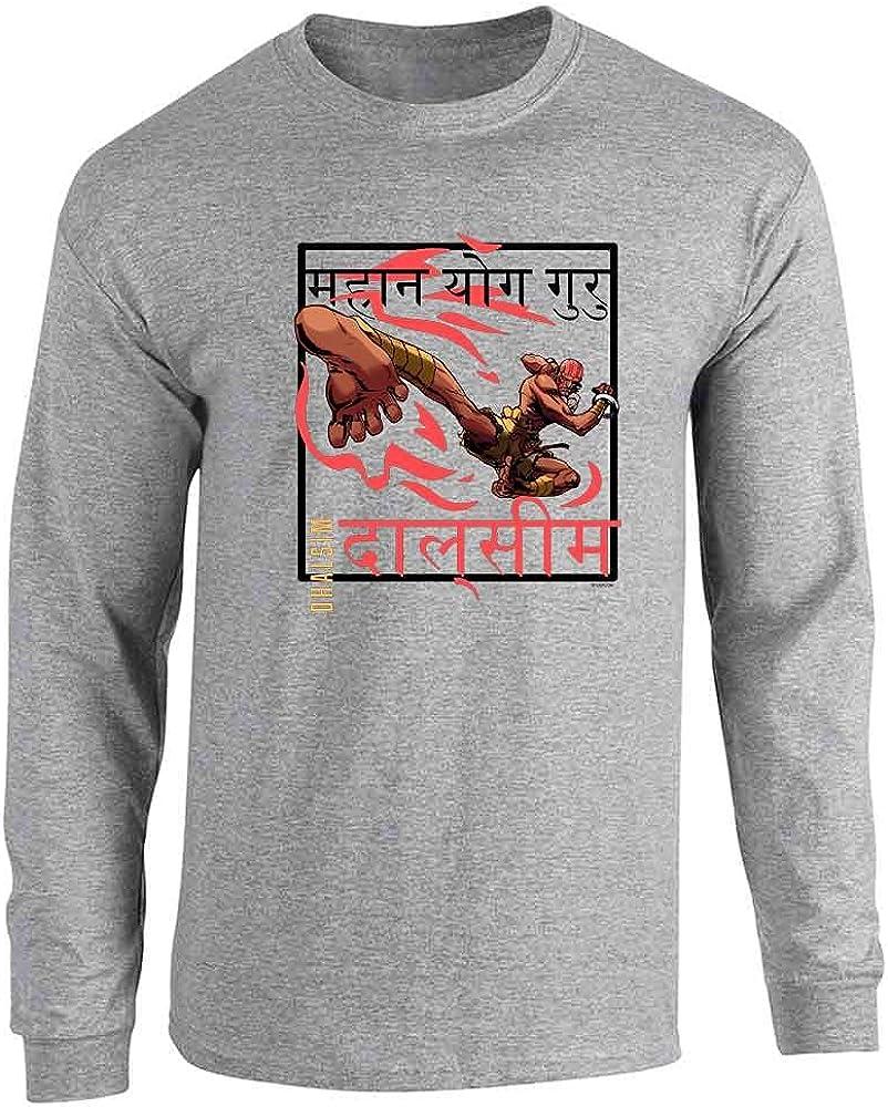 Dhalsim Video Gamer Art Street Fighter 2 Retro 90s Full Long Sleeve Tee T-Shirt