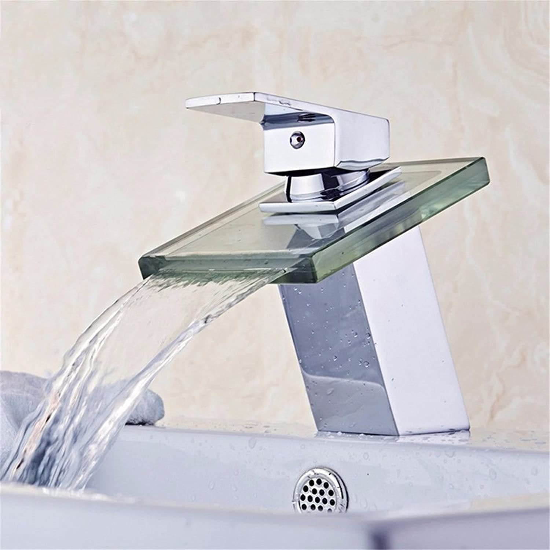 Moderne einfache kupferne heie und kalte Spülbecken Wasserhhne Küchenarmatur Vollkupferbadezimmerspülbecken heie und kalte Einlochmontage Wasserfallhahn Geeignet für alle Badezimmerküchenbecken