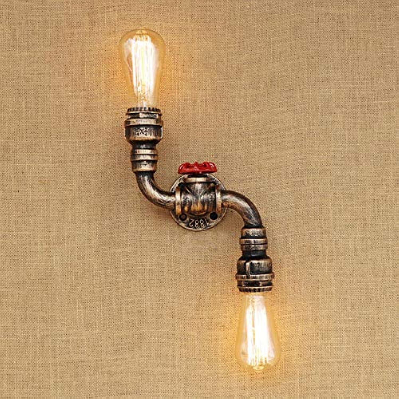 Retro Retro Industrial Tube Wall Lamp Iron Rust Bend Lamp Living Room Bedroom Restaurant Bar